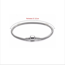 2016 Fashion High Quality 17-22CM Platinum Plated Snake Chain Bracelets Fit DIY Beads Pandora Bracelets Women Charm Fine Jewelry(China (Mainland))
