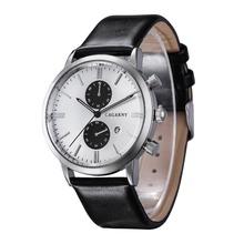 2015 nueva Miler marca Mens relojes de primeras marcas de lujo del cuarzo hombre reloj Casual banda de cuero reloj de pulsera reloj militar Relogio hombre
