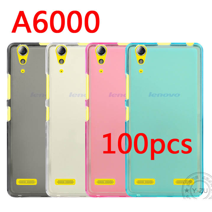 Здесь можно купить  Top quality ! Transparent Soft TPU  case for Lenovo A6000 phone Free shipping  100pcs/lot , Mixed colors  Телефоны и Телекоммуникации