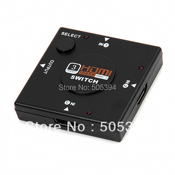 Mini 3 Port HDMI Switch Switcher Splitter 3 input 1 Output Box HDMI Selector for PS3 PS4 Smart HDTV 1080P(China (Mainland))