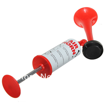 New Hand Held Loud Pump Action Air Horn Klaxon No Gas For Sport Party Emergencies Free shipping