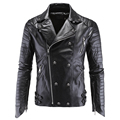 European and American Style Skulls Leather Jacket Coats For Men Plus Size 5XL Punk Style Wholesale