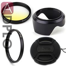 Buy Lens Accessories set!NEX-5 Bayonet Mount Lens Hood + Snap-on Lens Cap + Ultra-Violet UV Filter + Gradual Yellow Lens Filter 55mm for $17.07 in AliExpress store