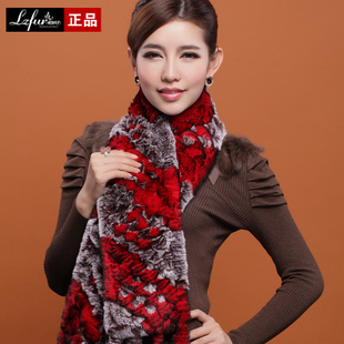 2013 Womens Fashion Real Knitted Rex Rabbit Fur Scarves with Tassels Charm Party Wraps Free ShippingОдежда и ак�е��уары<br><br><br>Aliexpress
