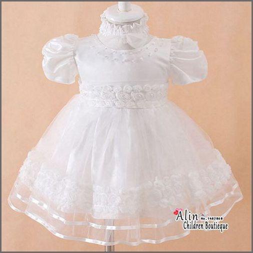 Baby Girl Baptism Dress Headband Set,Robe De Bapteme,Infant Christening Gowns,Bebe Battesimo Vestidos,Baby Formal Dress,#3W0012(China (Mainland))