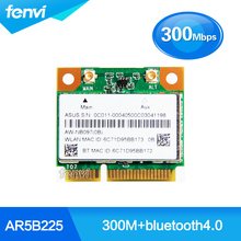 New Atheros AR5B225 WIFI Wireless Bluetooth BT 4.0 Half MINI PCI-E Card Better than 1030 6235 6230 Laptop Network Adapter
