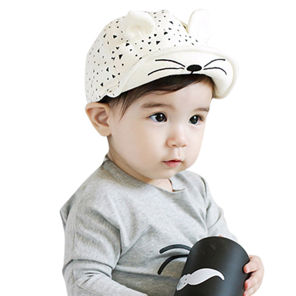newborn photography Cute Kid Baby Boy Girl Toddler Infant Hat Cat Baseball Cap baby bonnet cotton kids hats bonnet enfant(China (Mainland))