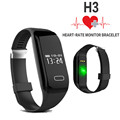 Sports Passometer Smartwatch H3 Heart Rate Monitor SmartBand Wristband bluetooth smart watch For ios Android smartphone