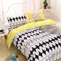 High-Density Duvet covers set bedding sets,Cotton Bed Set Black and white Bedclothes,Contain 1 Quilt Cover 2 Pillowcases #HM4802