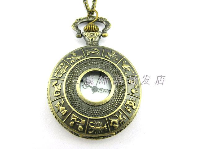 Fashion classic Large vintage pocket watch necklace camel table rahb133b(China (Mainland))