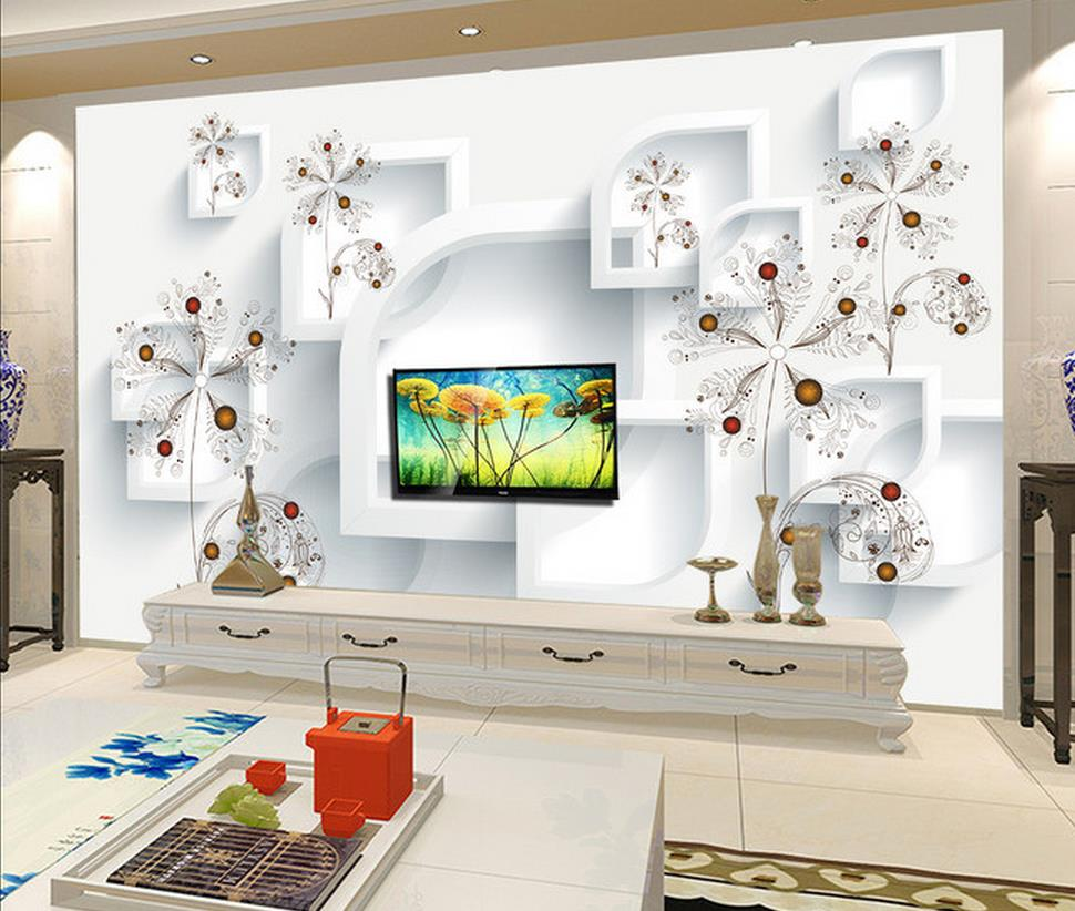 Wall Mural For Living Room High Quality Living Flower Wall Mural Buy Cheap Living Flower Wall