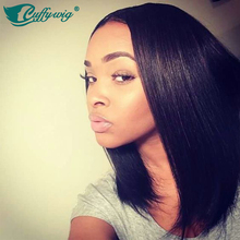 150% Density 12inch Full Lace Bob Cut Wig With Middle Part Summer Long Bob Front Short Bob Full Lace Human Hair Wig For Summer