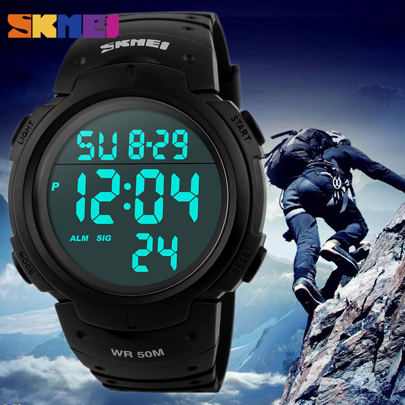 SKMEI 1068 Men LED Digital Wristwatches Fashion Brand Sport Watch Chrono Waterproof Military Watches Relogio Masculino