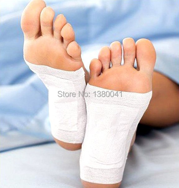 10PCS Detox Foot Pads Patches With Adhesive New 2014 Easy Foot Health Care Free Shipping Without Retail Box(China (Mainland))