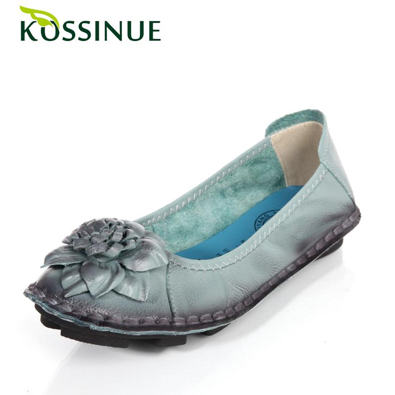 Гаджет  New 2015 spring women flats genuine leather anti-slip lady handmade flower shoes female soft casual folding shoes size(35-40)  None Обувь