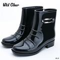 Men s Fashion Balck Rain Boots Male 2017 New non slip Waterproof Short Boots Outdoor 39