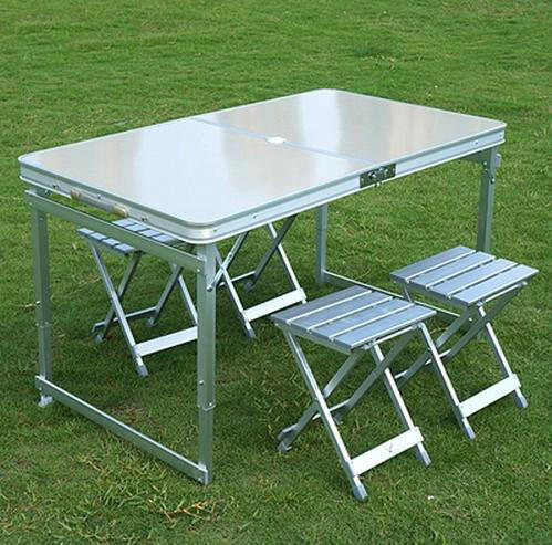 Table manger mobilier d 39 ext rieur portable camping pique for Table en aluminium exterieur
