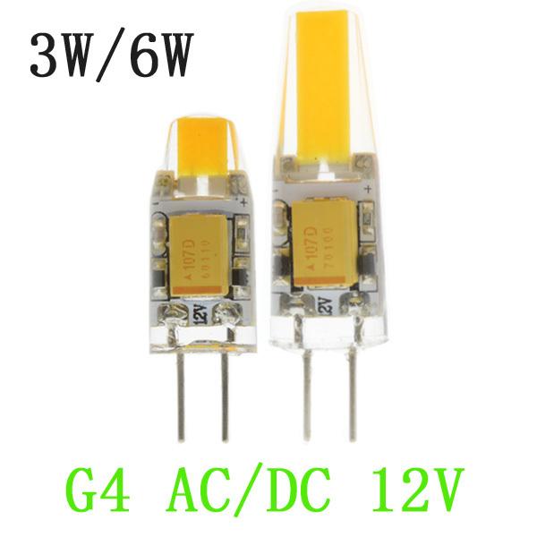 Гаджет  10pcs New arrival G4 AC/DC12V COB LED Bulbs 3W 6W  LED G4 COB lamp Replace for Crystal LED Light Bulb Spotlight Warm Cold White None Свет и освещение