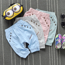 2016 summer new Korean children boys and girls cotton pants five pants(China (Mainland))