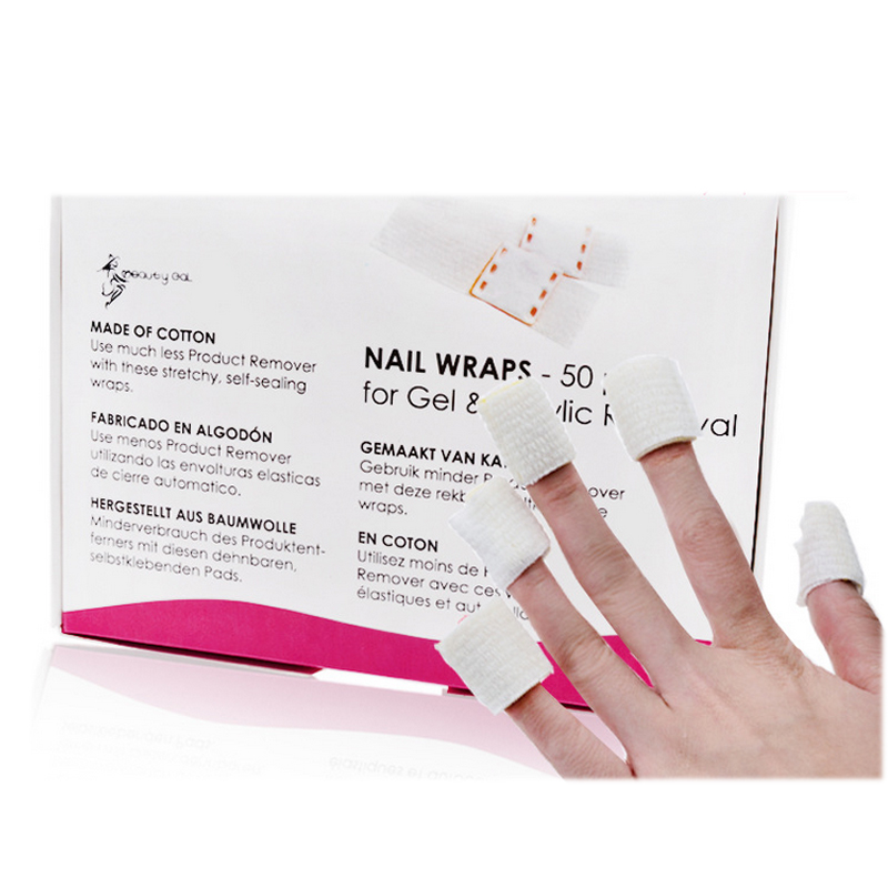 2016 50Pcs Gel Lacquer Nail Polish Foil Easy Remover Cleaner Wraps(China (Mainland))