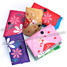 Pattern folding fabric shopping bag,Environment Eco-friendly reusable Portable Shoulder handle Bag Polyester for Travel Grocery(China (Mainland))