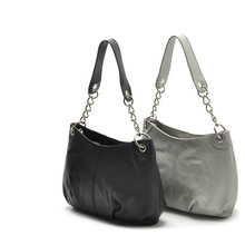 2016 New Women fashion metal silver grey black single small mini shoulder bag handbag women's totes chain