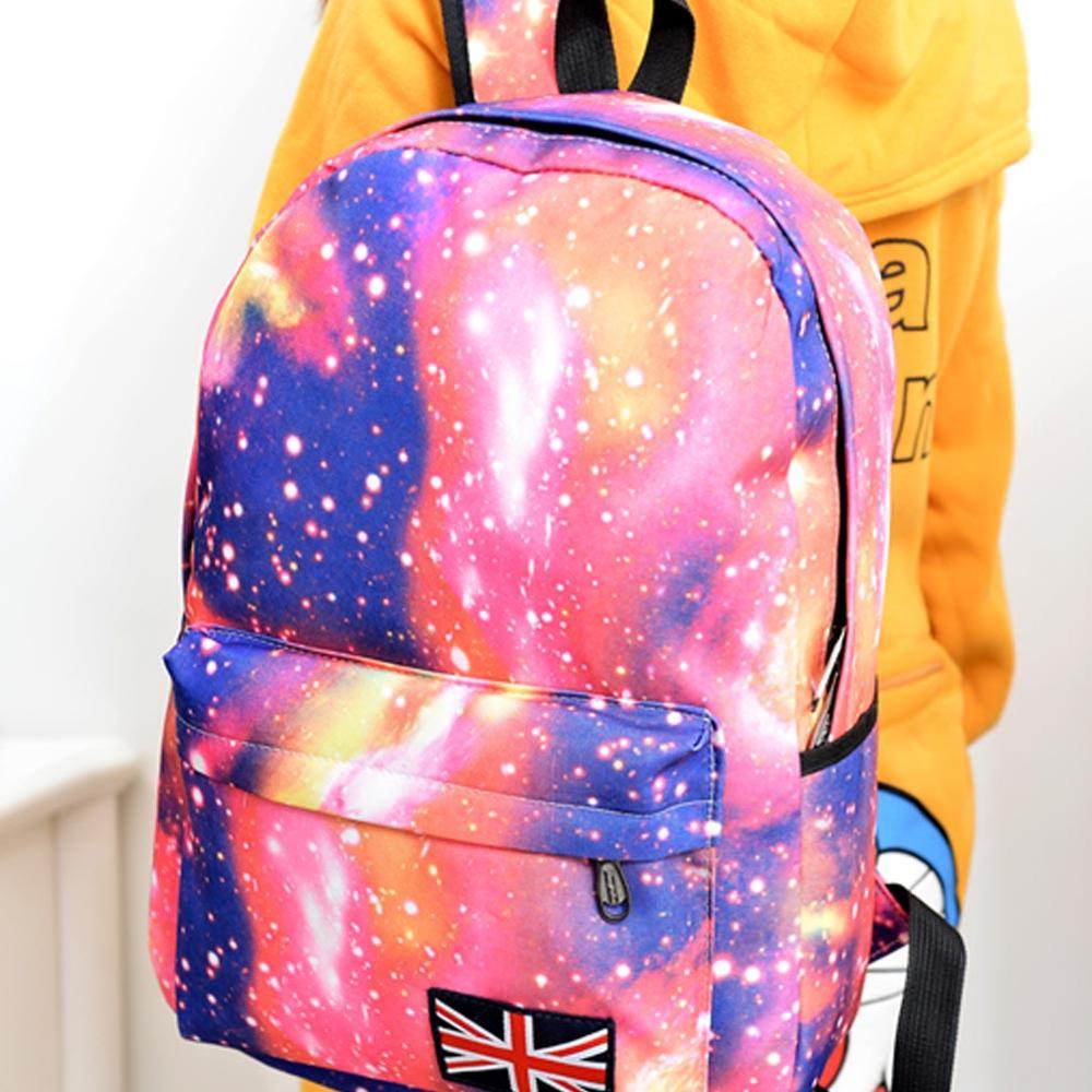Fashion Unisex Stars Universe Space Printing Women Canvas Backpack School Backpacks Shoulder Bag Girls Backbag Mochila Feminina(China (Mainland))