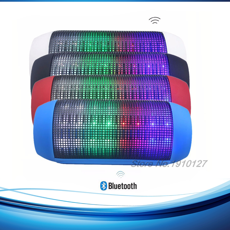 2015 Mini Portable Wireless Bluetooth Speaker LED Colored Lights Speakers USB And TF Card