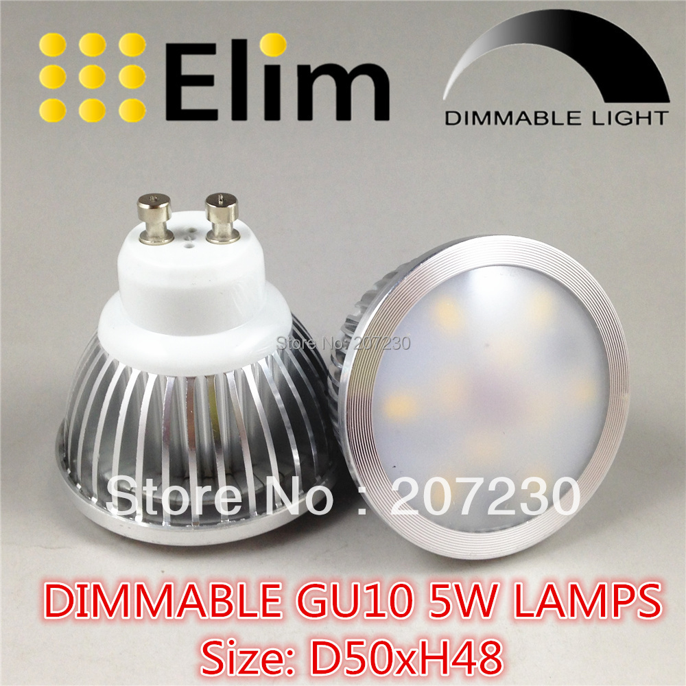 4pcs/lot dimmable GU10 SMD Warm White Spot Light Bulb Lamp 5W Energy Saving with cover(China (Mainland))