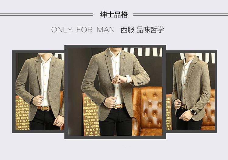 HTB14S8nNpXXXXbuaXXXq6xXFXXXn - Mens suit jacket 2016 new cotton polyester suit men's casual suit men's suit jacket lattice Slim jackets for men winter jackets
