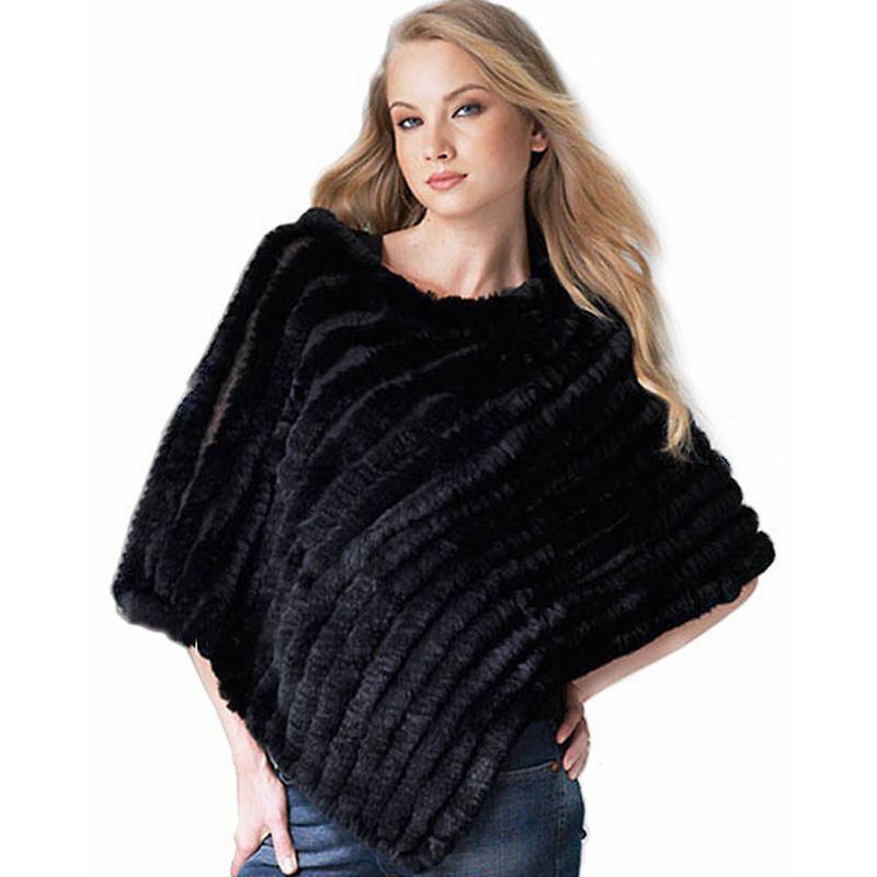 2015 CPA FREE SHIPPING*Genuine Rabbit fur poncho/shawl/jacket/Coats*wholesale&retail(China (Mainland))