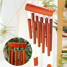 2015 New Beautiful Design Wind Chime Bamboo Wood *63cm Drop* Garden Ornament Feng Shui Rectangular(China (Mainland))