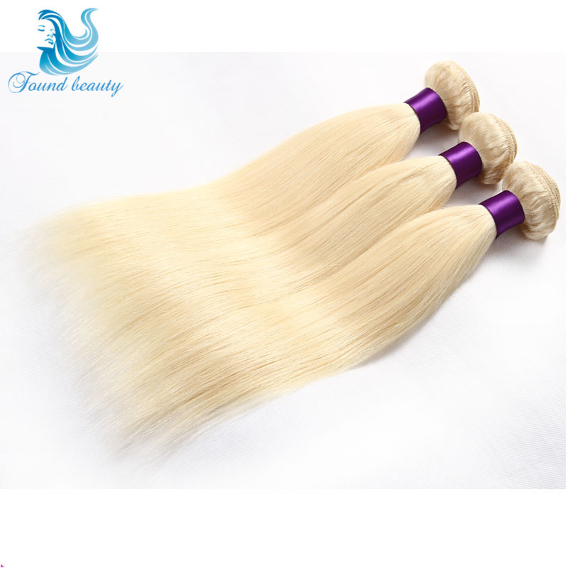 613 Blonde Virgin Hair 7A Grade Brazilian Human Hair Cheap Straight Human Hair Bundles 3 pcs/lot Blonde Brazilian Hair Soft