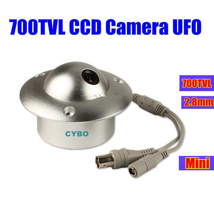Здесь можно купить  sony ccd cctv Camera 700TVL COLOR 2.8mm mini wide angle Video suveillance camera UFO for elevator lift  Безопасность и защита