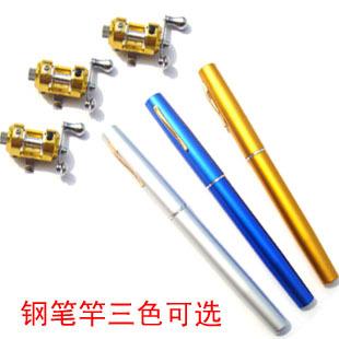 Mini fountain pen fishing rod type drum wheel fountain pen rod ice fishing rod mini fishing rod portable steel(China (Mainland))