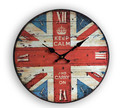 34cm wood wall clock vintage rustic style for home wall decor in bedroom kitchen wood crafts