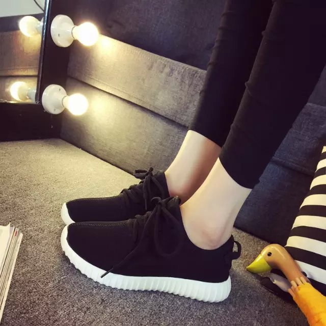 Trend women's 2016 summer shoes flat solid color fashion breathable women's shoes lacing casual shoes(China (Mainland))