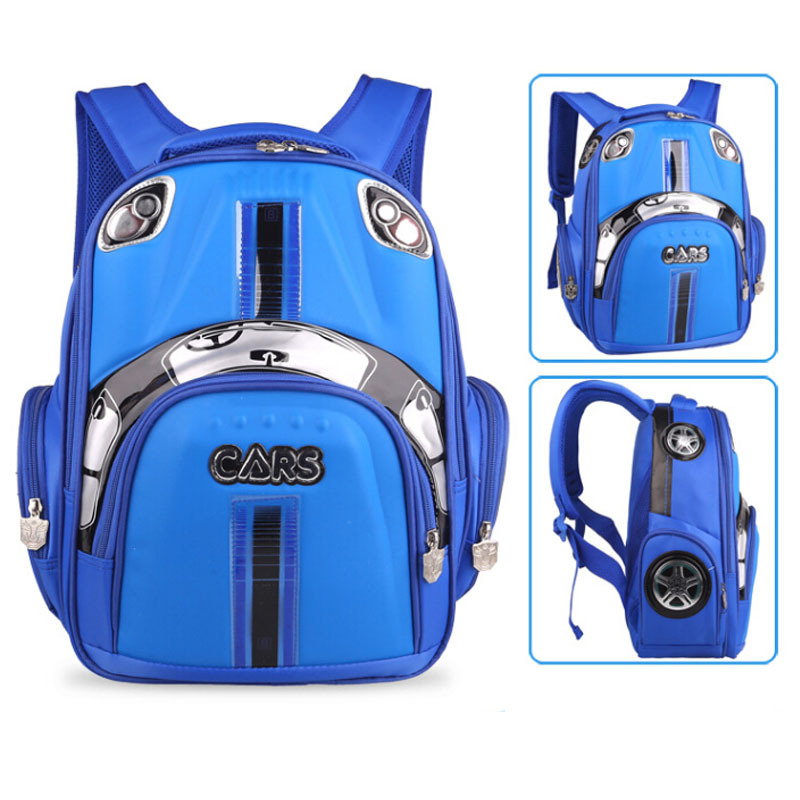 2015 Waterproof Kids School Backpack 3D Stereo Racing Girls Boys Backpacks Children Bags grade 1-2 - Online Store 426955 store