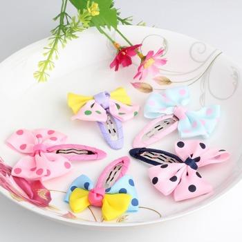 2Pcs High Quality Cute Ribbion Bow Girls Hair Clips Kids Children Accessories Hair Accessories Girls Hair Clip