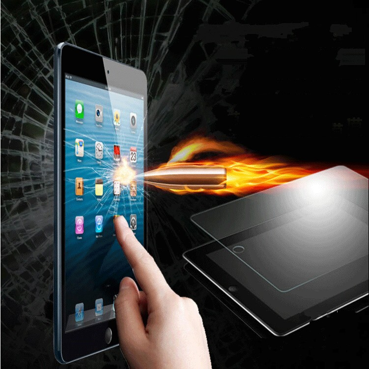 Hot ! Tempered Glass Protective Film For ipad air 2 / ipad 5 6 Explosion Proof Clear Toughened Screen Protector with Retail box(China (Mainland))