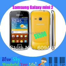 Quad band phone refurbished original Samsung Galaxy mini 2 S6500 unlocked 3.15MP camera 4G ROM + 512M RAM Free shipping(China (Mainland))