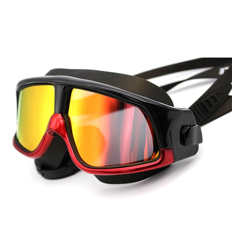 Brand New Polarized Swim Goggles Swimming Glasses Anti-Fog UV Large Wide men women Sport Waterproof Silicone Mirrored(China (Mainland))