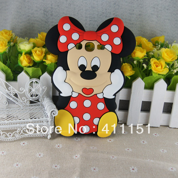 3D Minnie Soft Silicone Cover Back Rubber Case Samsung Galaxy Grand Duos i9082,mobile phone case - ALEX ZHOU Store store