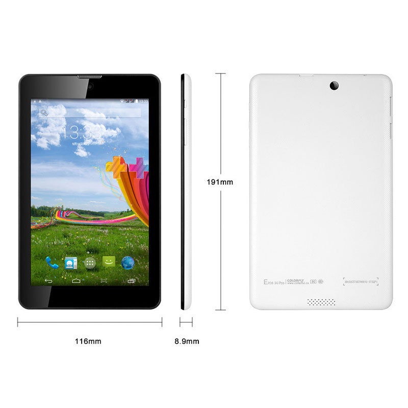 Original Colorfly E708 3G Pro Android Tablet 7 Inch MTK8382 1GB RAM 8GB ROM 2MP Camera