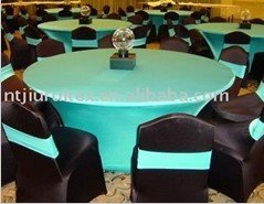 "72"" round Turquoise spandex tablecloth(China (Mainland))"