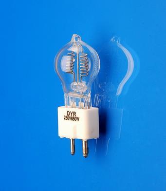DYR JCD 220V 230V 240V 650W GZ9.5 halogen projector bulb,230V650W A1/233 projection light lamp,CE ISO9001(China (Mainland))