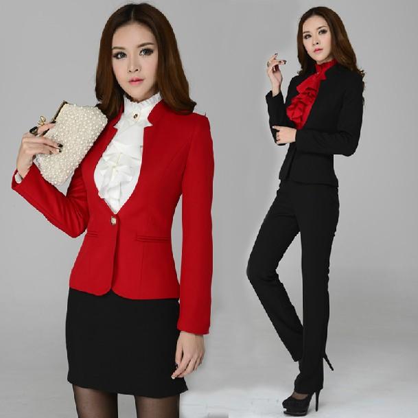 new autumn winter ladies business sets pants suits