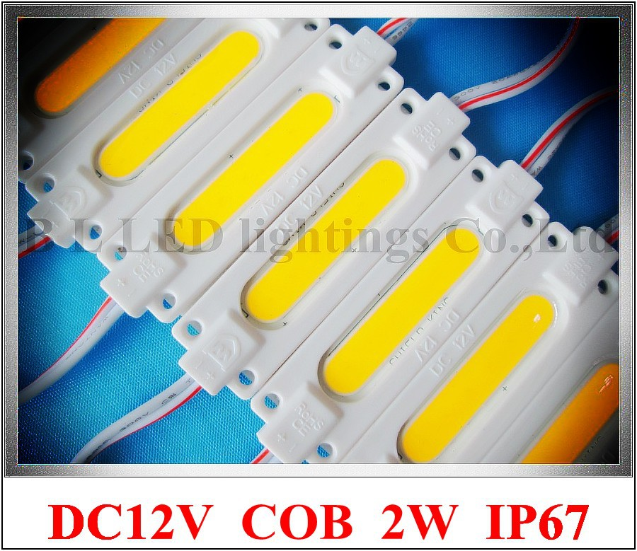 injection COB LED module light waterproof LED back light backlight DC12V 2W 1led COB IP67 CE ROHS 70mm*20mm*3mm aluminum+ABS(China (Mainland))