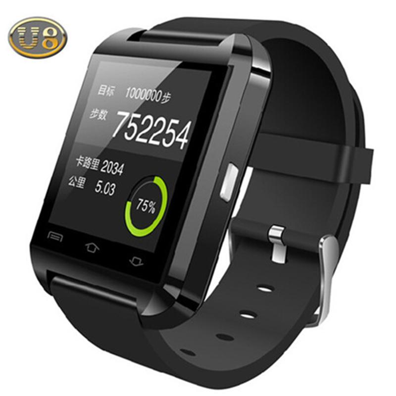2015 Hot Bluetooth Smart Watch WristWatch U8 U Samsung S4/Note 2/Note 3 HTC LG Huawei Xiaomi Android Phone Smartphones