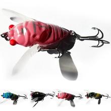 Random Color 1 Pcs 4-Color Cicada Baits Fishing Lures Bass Crank baits 4cm 6.4g Float Baits Free Shipping